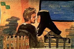 Jesse Pinkman and Jane Margolis by Annzig