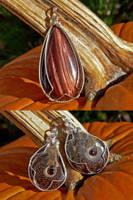 Pumpkin Spice Pendants by magpie-poet