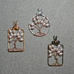 Sakura Tree Pendants by magpie-poet