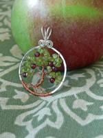 Apple Tree Pendant by magpie-poet