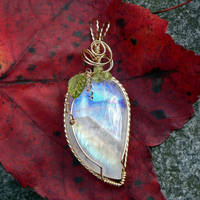 Moonlight and Vines Pendant by magpie-poet
