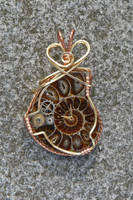 Professor Aronnax Ammonite Pendant by magpie-poet