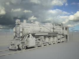 Steam Locomotive Model by llMarcos