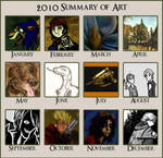 2010 - A Year in My Art by Grace-Dupre