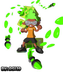 Tenta Missiles Attack - Splatoon Inkling Boy Lee by Greeny-Yoshi-RSL19