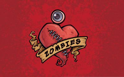 I Love Zombies Wallpaper by fizzgig
