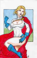Power Girl Colored by GoblinGrimm1
