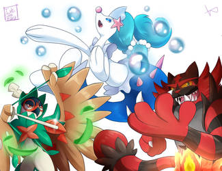 Pokemon Alola Starter - COLLAB by HikaruNoMiraiW