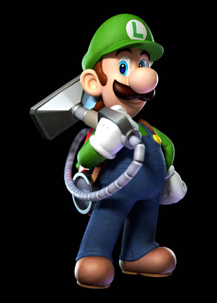 Luigi With His Poltergust 5000 By Drybowzillajp On Deviantart