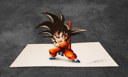 Kid Goku - 3D Art! by InlineSpeedSkater