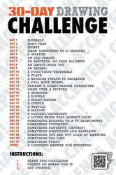 30-Day Drawing Challenge by keeru