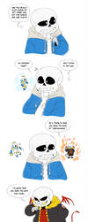 Sans's Internal Struggle by EarthGwee