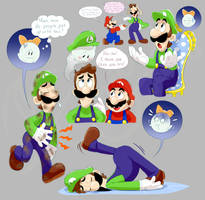 Mario and Luigi + Boo doods by EarthGwee