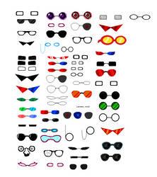 Homestuck Glasses Sprite Sheet by blahjerry