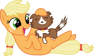 Filly Applejack with Winona by MacTavish1996 by MacTavish1996