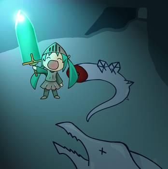 Hatsune Miku/the moonlight sword form dark souls by STAN500005