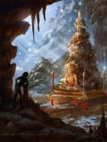 Tomb Raider sketch 02 by Inna-Vjuzhanina
