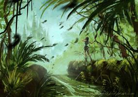 Tomb Raider sketch 05 by Inna-Vjuzhanina