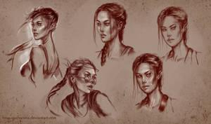Lara sketches by Inna-Vjuzhanina
