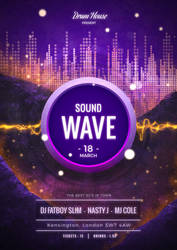 Sound Wave Flyer by ensombrecer