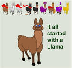 started with a llama by m0onjade