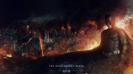 Batman - The Dark Knight Rises Banner by visuasys