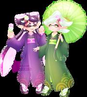 Callie and Marie [Splatoon 2] by Ghiraham-Sandwich