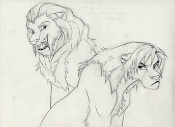 Fili Kili as lions by zimaro