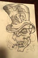 Shadows on skull sketch by Paskaniska