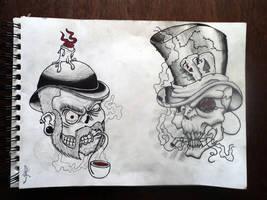 Sketchbook page by Paskaniska