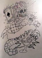 Skull snake thingy by Paskaniska