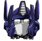 G1 Optimus Prime Head Coloured by studiogdp
