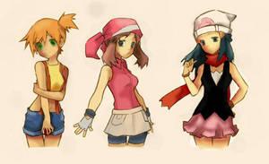 Pokemon Girls by ThoseDarnElves