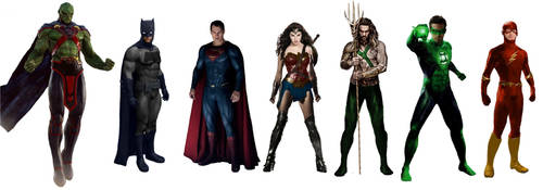 Original Seven Justice League Movie Renders! by JMoney667