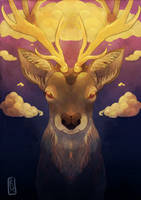 The Golden Stag by pokejade