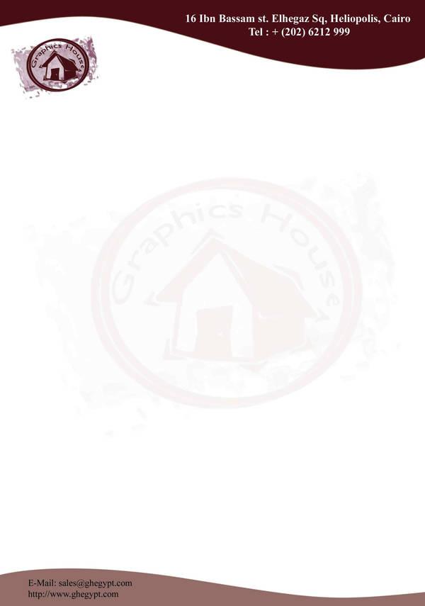 Graphics house letterhead by samnam