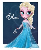 Chibi Elsa by Nabilum
