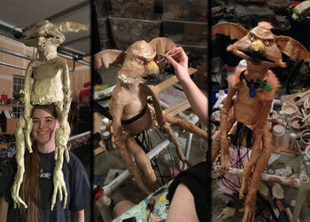 Salacious Crumb Puppet: Old WIP pics by CatsMenagerie