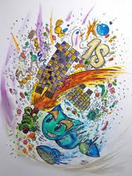 Deviant Art 18th Birthday Line Art Challenge by Harmony1965