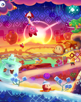 Kirby Triple Deluxe: World 3 Old Odyssey by reidiantdawn