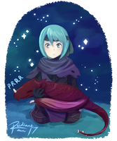 Beruka and the Little Wyvern by reidiantdawn