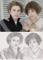 Jasper and Alice sketch by craftymama2