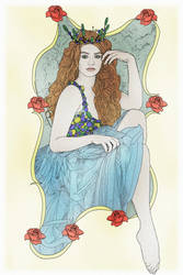 Red Hair Art Nouveau by lumpi69