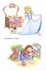 Marci McAdam colour characters by Marcimcadam