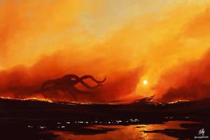 5. The Burning Landscape by HolBolDoArt