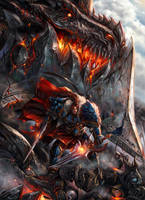 Varian Wrynn vs Deathwing by SiaKim