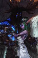 Tyrande and Malfurion by SiaKim