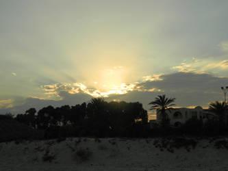 Sunset in Tunisia 02 by Riroku-sama