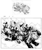 New X-men 45 pag 3-4 inks by Lobo-Cuevas