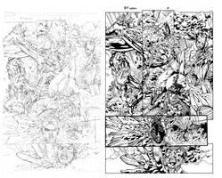 Black Panther Annual pag10 ink by Lobo-Cuevas
